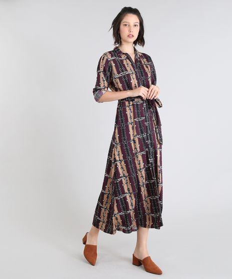Vestido-Chemise-Feminino-Estampado-com-Correntes--Roxo-9511933-Roxo_1