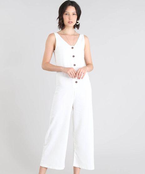 Macacao-Feminino-Regata-Pantcourt-com-Botoes-Off-White-9549702-Off_White_1