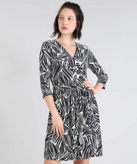 Vestido-Feminino-Estampado-Transpassado-com-Faixa-para-Amarrar-Manga-3-4-Off-White-9487865-Off_White_1