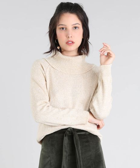 Blusa-Feminina-Alongada-Com-Maxigola-Kaki-9536438-Kaki_1