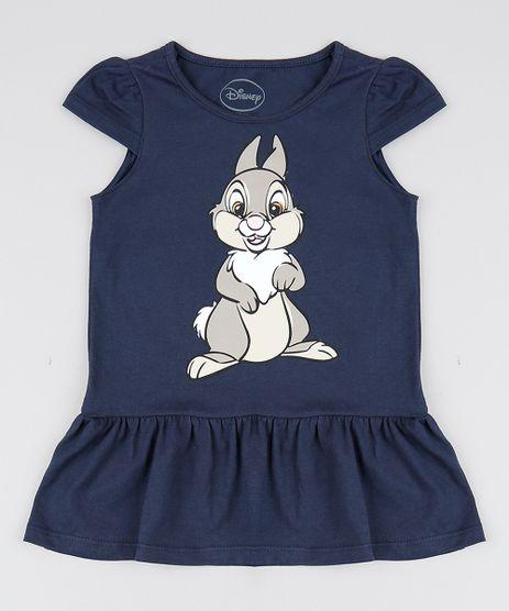 Vestido-Infantil-Tambor-Manga-Curta-Decote-Redondo-Azul-Marinho-9559597-Azul_Marinho_1