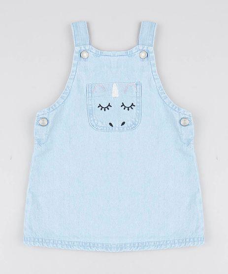 Salopete-Jeans-Infantil-Unicornio-com-Bolso-Azul-Claro-9541814-Azul_Claro_1
