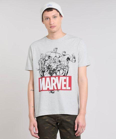 Camiseta-Masculina-Os-Vingadores-Manga-Curta-Gola-Careca-Cinza-Mescla-Claro-9559917-Cinza_Mescla_Claro_1