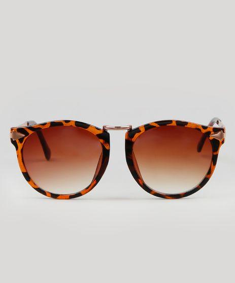 Oculos-de-Sol-Redondo-Masculino-Tartaruga-Marrom-9587944-Marrom_1