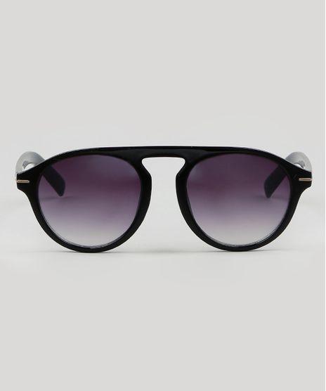 Oculos-de-Sol-Redondo-Masculino--Preto-9587984-Preto_1