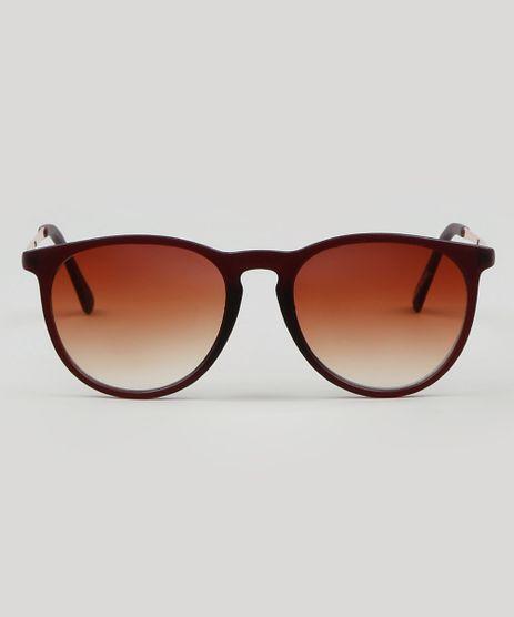 Oculos-de-Sol-Redondo-Masculino-Marrom-9587962-Marrom_1