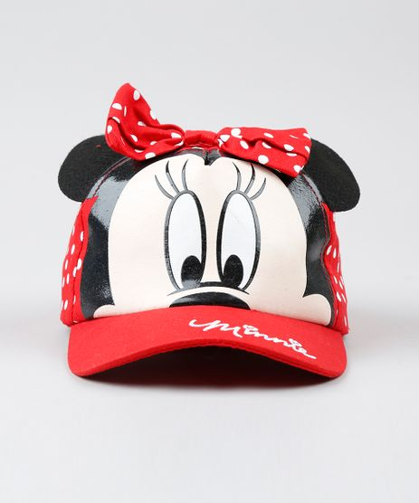 Bone-Infantil-Minnie--Vermelho-9537525-Vermelho_1
