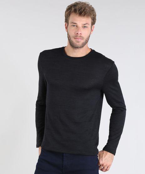 Sueter-Masculino-em-Trico-Slim-Fit-Gola-Redonda-Preto-9383782-Preto_1