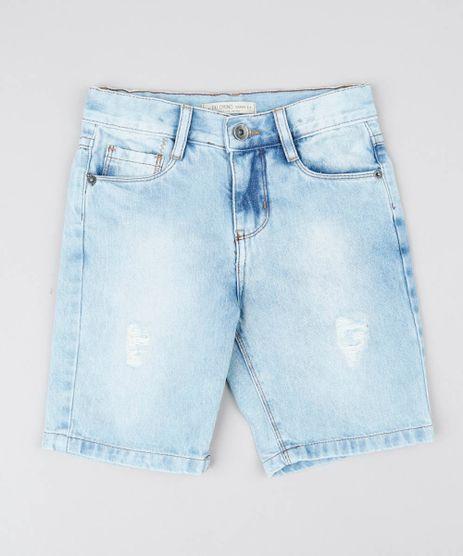 Bermuda-Jeans-Infantil-Destroyed-Azul-Claro-9566464-Azul_Claro_1