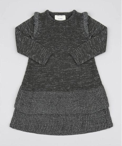Vestido-Infantil-Em-Trico-Com-Fio-Lurex-Verde-Escuro-9431342-Verde_Escuro_1