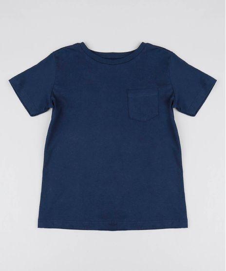 Camiseta-Infantil-Basica-com-Bolso-Manga-Curta-Gola-Careca-Azul-Marinho-9567186-Azul_Marinho_1