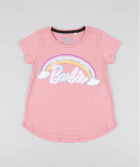 Blusa-Infantil-Barbie-Manga-Curta-Rosa-9586097-Rosa_1