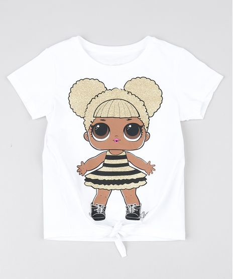 Blusa-Infantil-LOL-Surprise--Com-No-Frontal-Manga-Curta-Off-White-9571295-Off_White_1