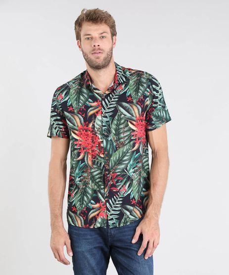 Camisa-Masculina-Relaxed-Estampada-Manga-Curta-Preta-9466284-Preto_1