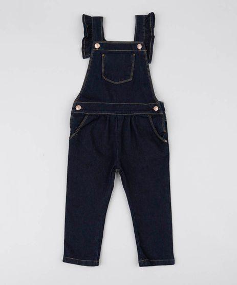 Jardineira-Jeans-Infantil-Com-Bolsos-Azul-Escuro-9541811-Azul_Escuro_1