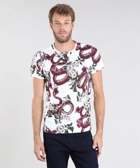 Camiseta-Masculina-Estampa-de-Cobras-Manga-Curta-Gola-Careca-Branca-9502051-Branco_1