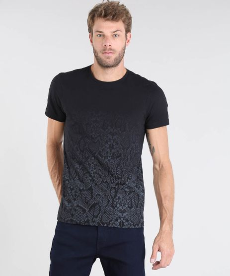 Camiseta-Masculina-Estampada-Animal-Print-Degrade-Manga-Curta-Gola-Careca-Preta-9528386-Preto_1