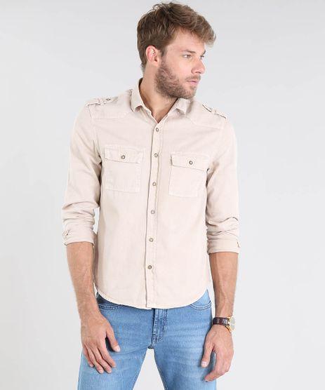 Camisa-Masculina-Comfort-com-Bolsos-e-Martingale-Manga-Longa-Bege-Claro-9519701-Bege_Claro_1