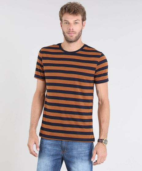 Camiseta-Masculina-Basica-Listrada-Manga-Curta-Gola-Careca-Azul-Marinho-9448508-Azul_Marinho_1