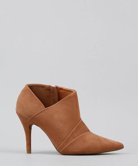 f05be13cc Ankle-Boot-Feminina-Vizzano-Bico-Fino-Bege-9521741-
