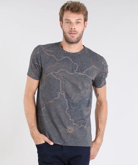 Camiseta-Masculina-Estampada-de-Mapas-Manga-Curta-Gola-Careca-Cinza-Mescla-Escuro-9528295-Cinza_Mescla_Escuro_1
