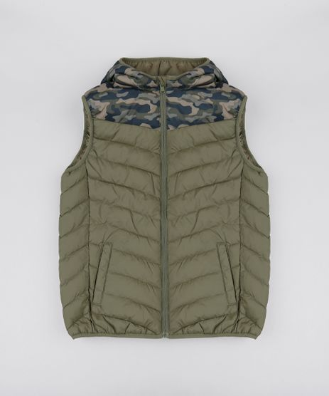 Colete-Puffer-Infantil-com-Capuz-Verde-Militar-9363422-Verde_Militar_1