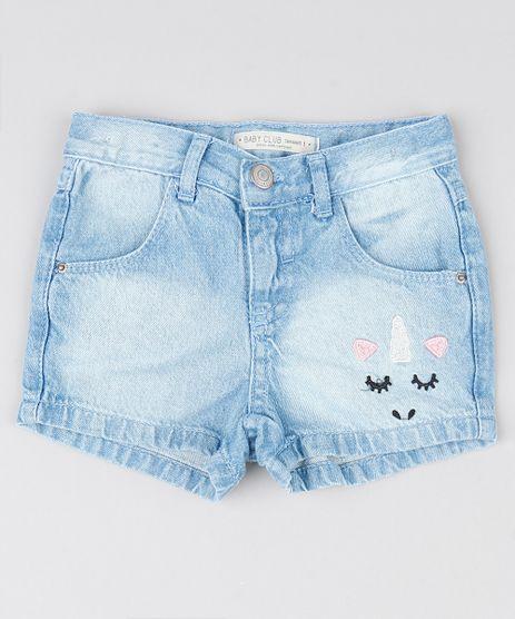 Short-Jeans-Infantil-com-Bordado-Unicornio-Azul-Claro-9551000-Azul_Claro_1