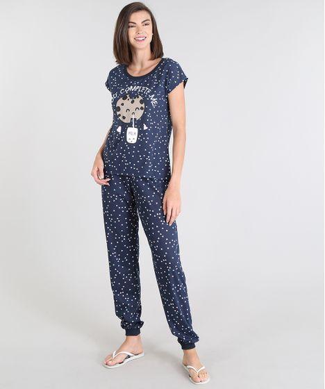 34d59ffc9 Pijama Feminino Milk e Cookie
