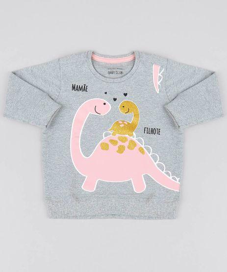 Blusao-Infantil-Dinossauro-em-Moletom-Decote-Redondo-Cinza-Mescla-9540133-Cinza_Mescla_1