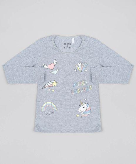 Camiseta-Infantil-com-Estampas-e-Glitter-Manga-Longa-Cinza-Mescla-9545324-Cinza_Mescla_1