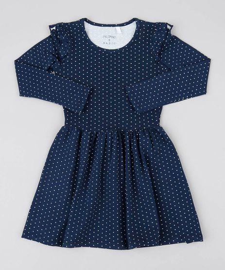 Vestido-Infantil-Estampado-Poa-com-Babado-Manga-Longa-Azul-Marinho-9537311-Azul_Marinho_1