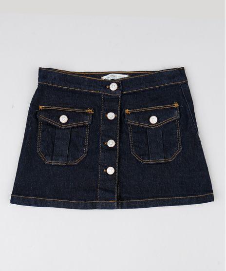 Saia-Infantil-Jeans-com-Bolsos-Azul-Escuro-9541173-Azul_Escuro_1