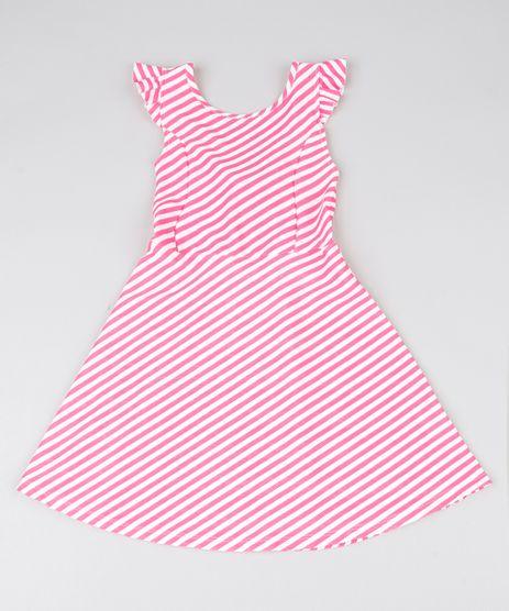 Vestido-Infantil-Listrado-com-Laco-e-Babado-Rosa-9561198-Rosa_1