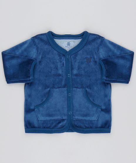 Cardigan-Infantil-em-Plush-com-Bolsos-Azul-Marinho-9195562-Azul_Marinho_1