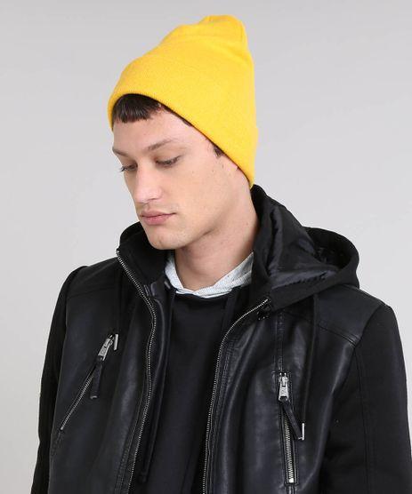 Gorro-Masculino-Basico-em-Trico-Amarelo-9465065-Amarelo_1