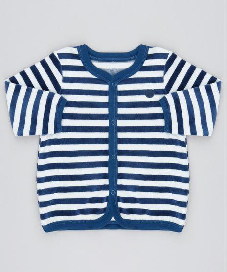 Cardigan-Infantil-em-Plush-Listrado-com-Bolsos-Off-White-9195562-Off_White_1