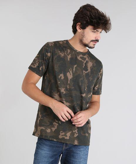 Camiseta-Masculina-Estampada-Camuflagem-Manga-Curta-Gola-Careca-Verde-Militar-9540844-Verde_Militar_1