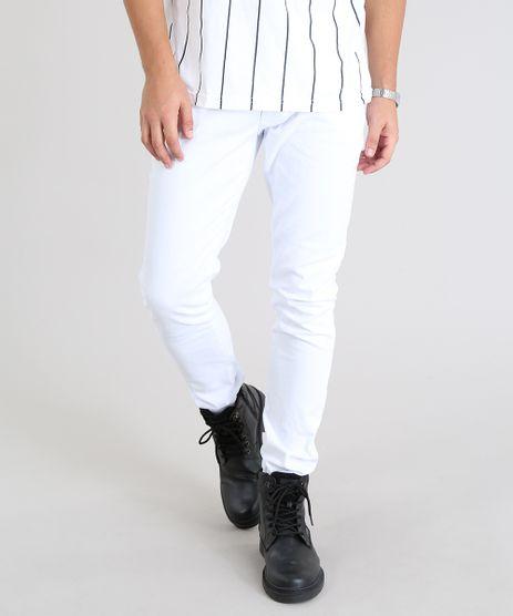 Calca-em-Sarja-Masculina-Slim-Branca-9466337-Branco_1