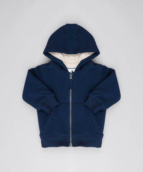Jaqueta-Infantil-Texturizada-com-Capuz-e-Pelo-Azul-Marinho-9443402-Azul_Marinho_1