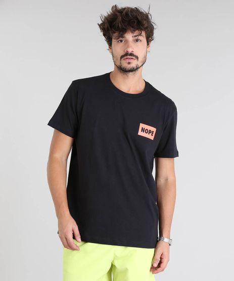 Camiseta-Masculina--Nope--Manga-Curta-Gola-Careca-Preta-9601072-Preto_1