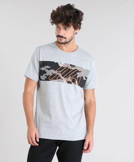 Camiseta-Masculina-com-Estampa-de-Camuflagem-Manga-Curta-Gola-Careca-Cinza-Mescla-9412026-Cinza_Mescla_1