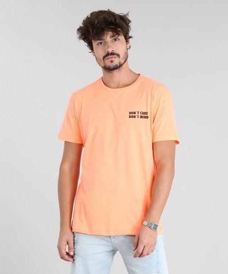Camiseta-Masculina--Don-t-Care-Don-t-Mind--Manga-Curta-Gola-Careca-Laranja-Neon-9601069-Laranja_Neon_1
