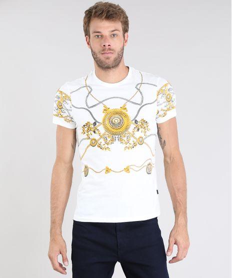 Camiseta-Masculina-Estampada-de-Arabescos-Manga-Curta-Gola-Careca-Branca-9524267-Branco_1