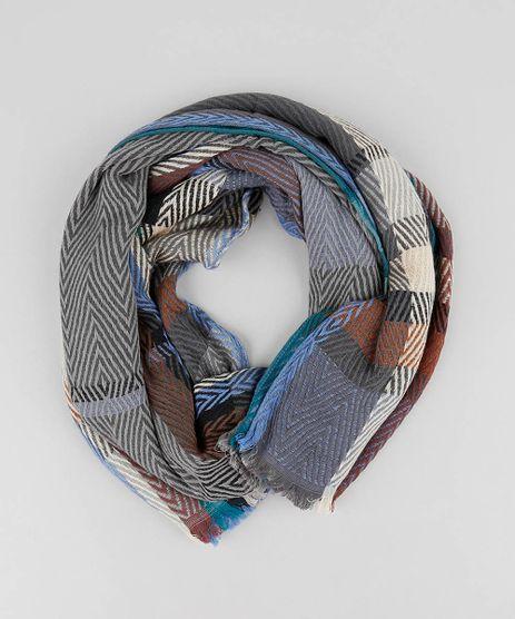 Lenco-Feminino-Xadrez-Azul-9419008-Azul_1