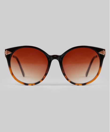 6b145064d Oculos-de-Sol-Redondo-Feminino-Marrom-9592967-Marrom_1 ...