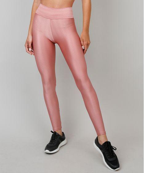 df402aeac Calça Legging Feminina Esportiva Ace com Textura Rosê - cea