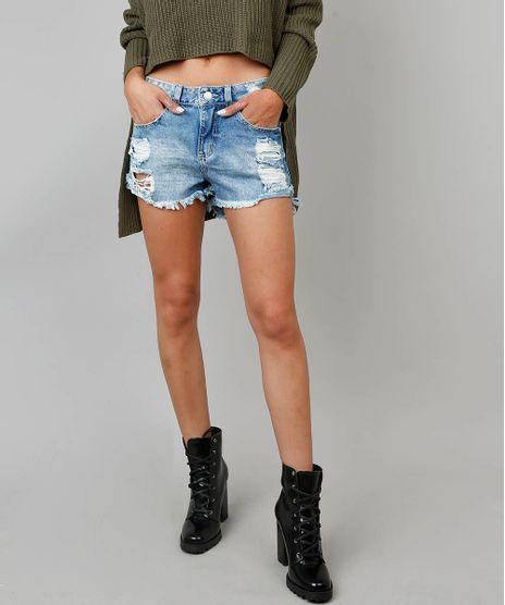 Short-Jeans-Feminino-Boy-Destroyed-com-Barra-Desfiada-Azul-Claro-9568304-Azul_Claro_1