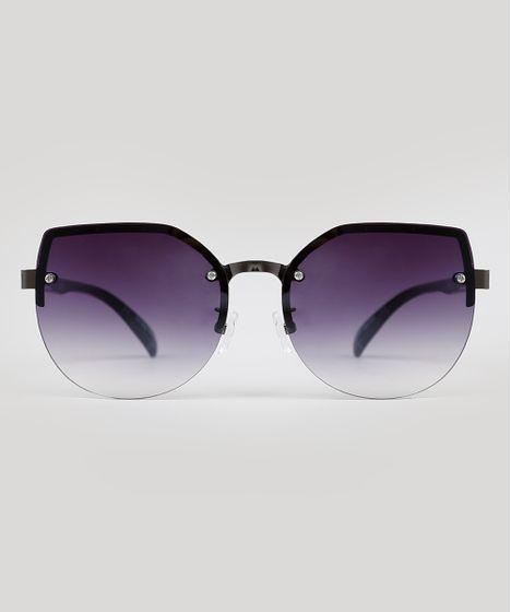 0c58dfc22 Oculos-de-Sol-Redondo-Feminino-Preto-9592955-Preto_1 ...