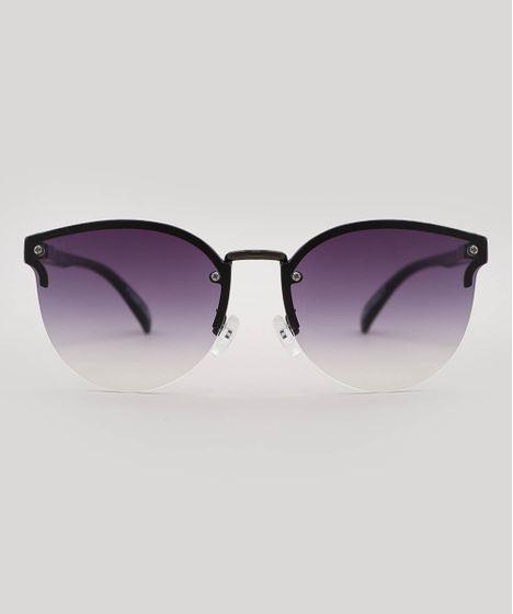 274c419a2 Oculos-de-Sol-Redondo-Feminino-oneself-Preto-9585615- ...