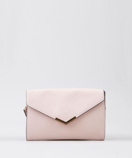 Bolsa-Feminina-Transversal-Com-Metal-Pequena-Rose-9470300-Rose_1